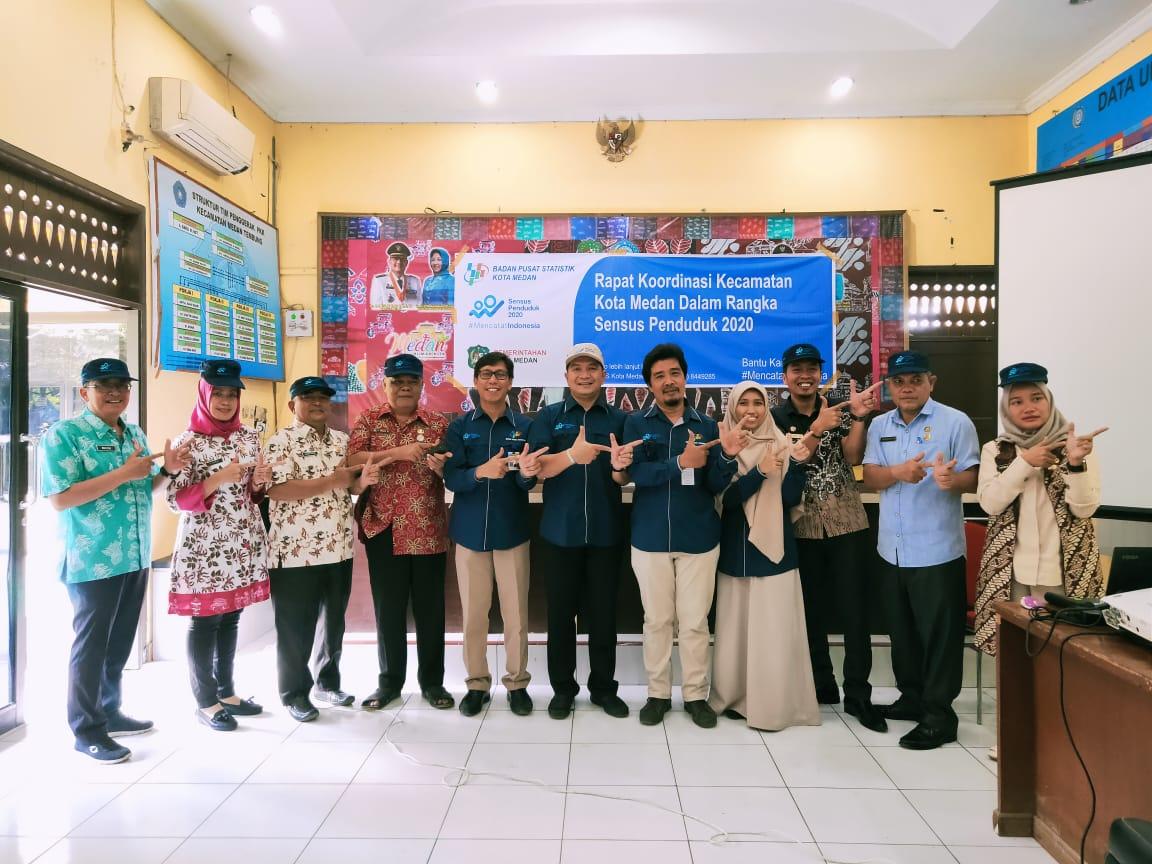Rapat Koordinasi Kecamatan Kota Medan Dalam Rangka Sensus Penduduk 2020